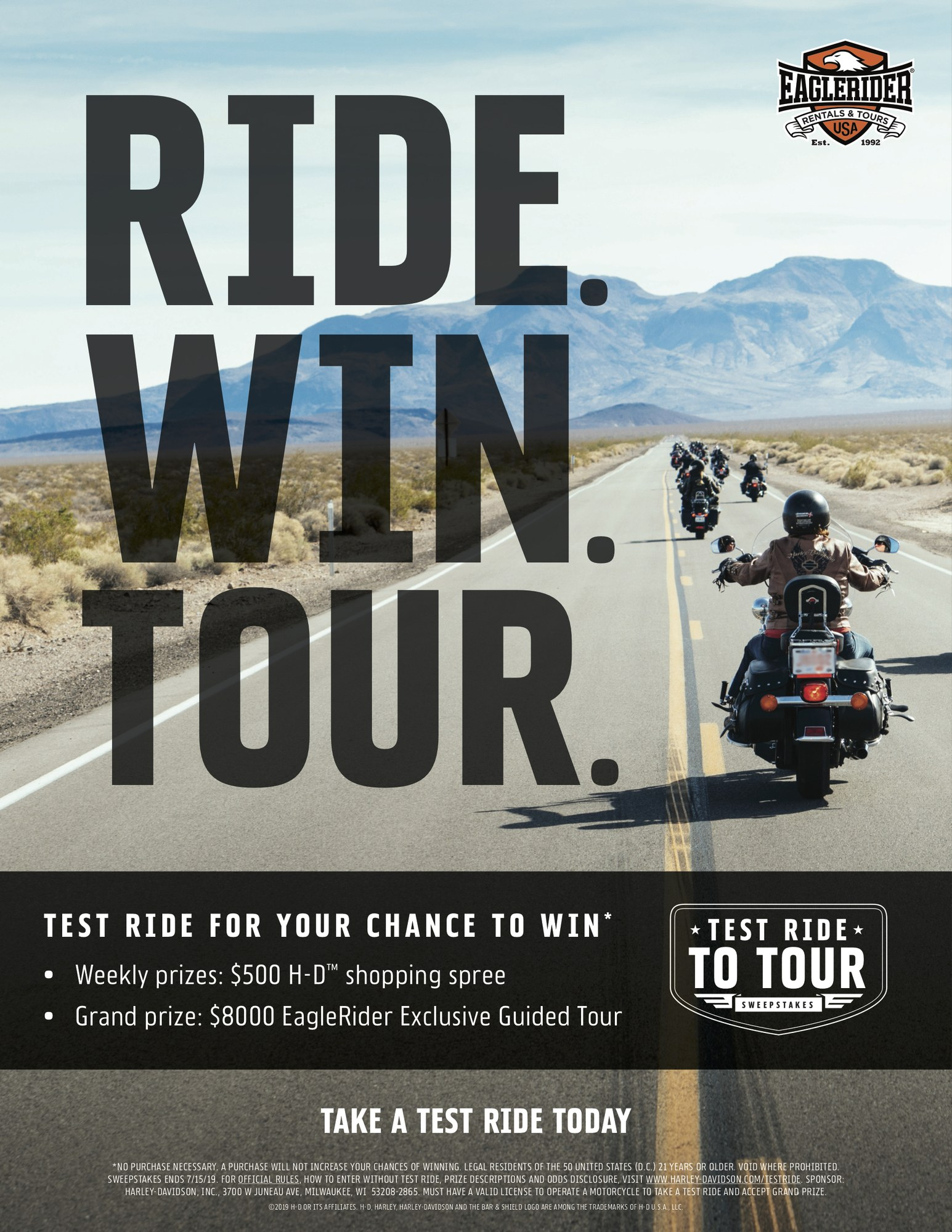 Test ride for your chance to win