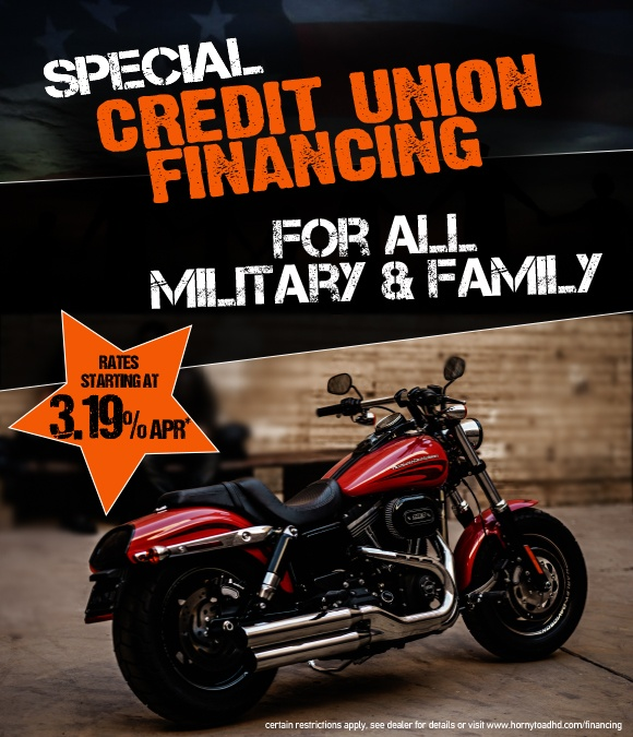 Special credit union financing available for all military and family